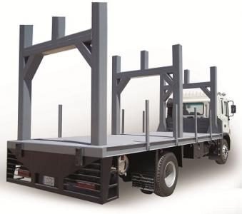 Trailer For loading steel bridge